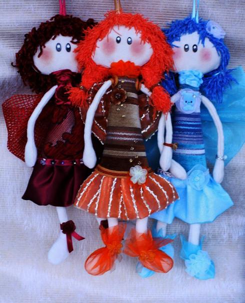Textile handmade dolls