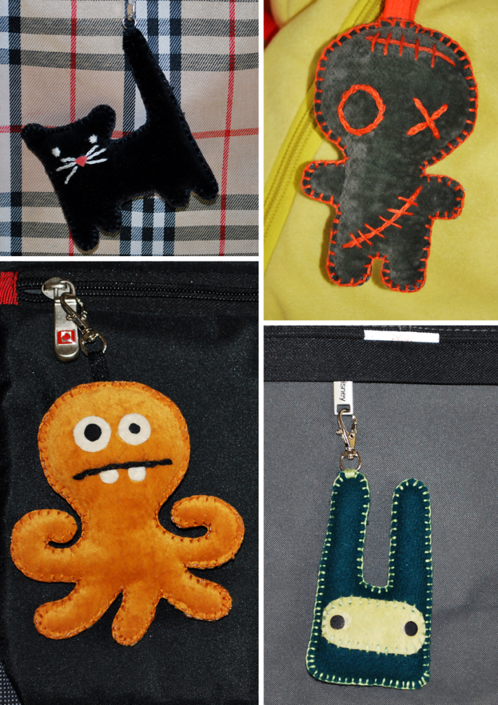 Textile handmade key trinkets