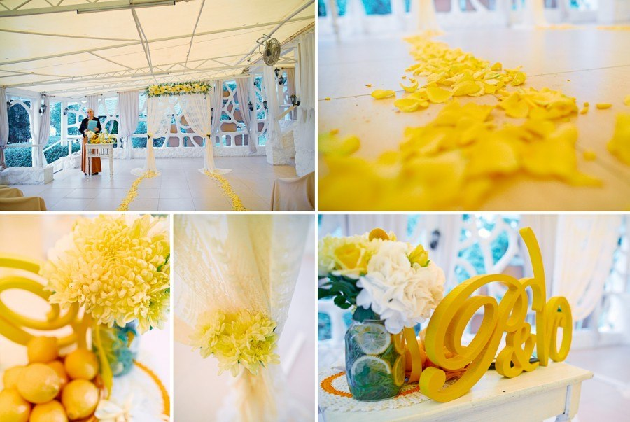 Lemon Wedding ceremony & details