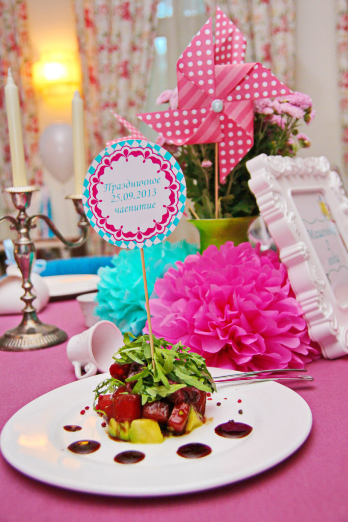 """Alice in Wonderland"" party, table decorations"