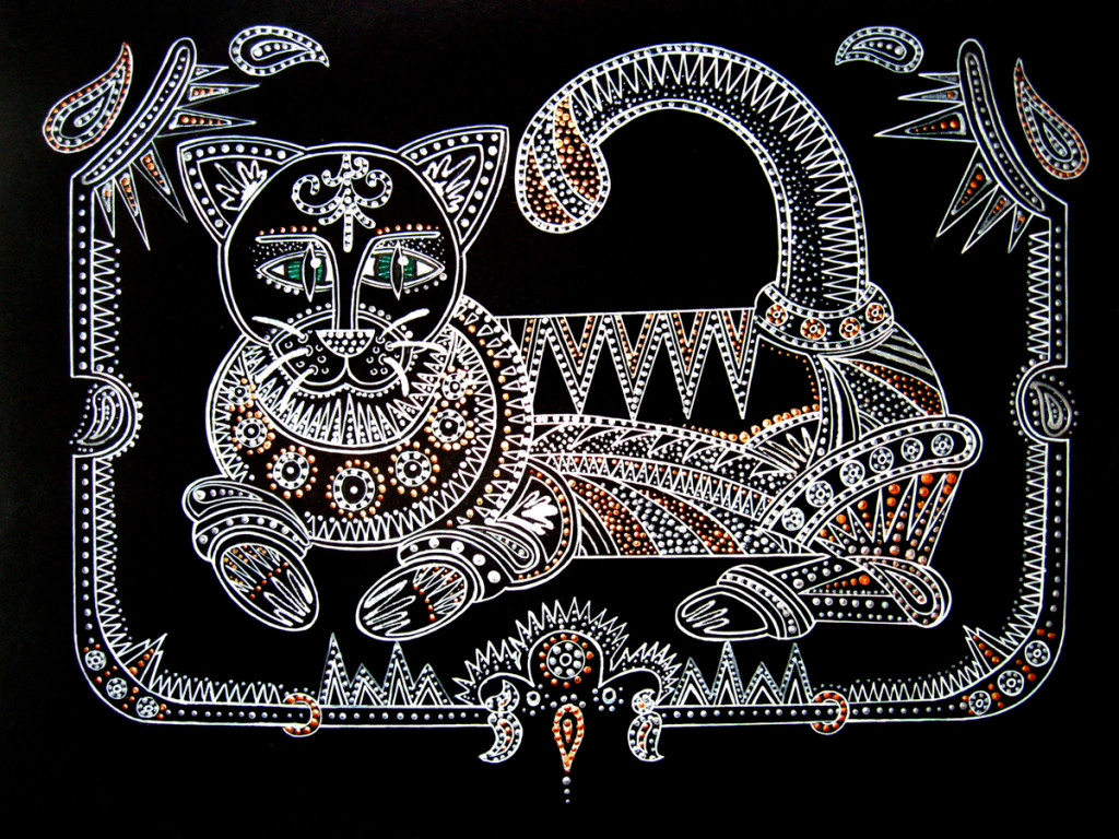 """Fairytale Cat"". Acrylic"