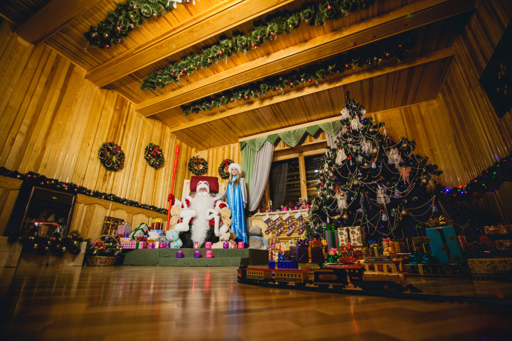 Santa Claus Village hall decoration