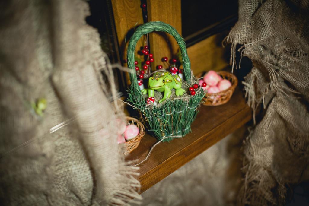 Santa Claus Village. Witch house decoration details