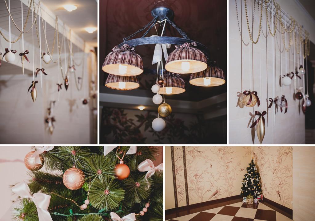 Restaurant Christmas decorations details