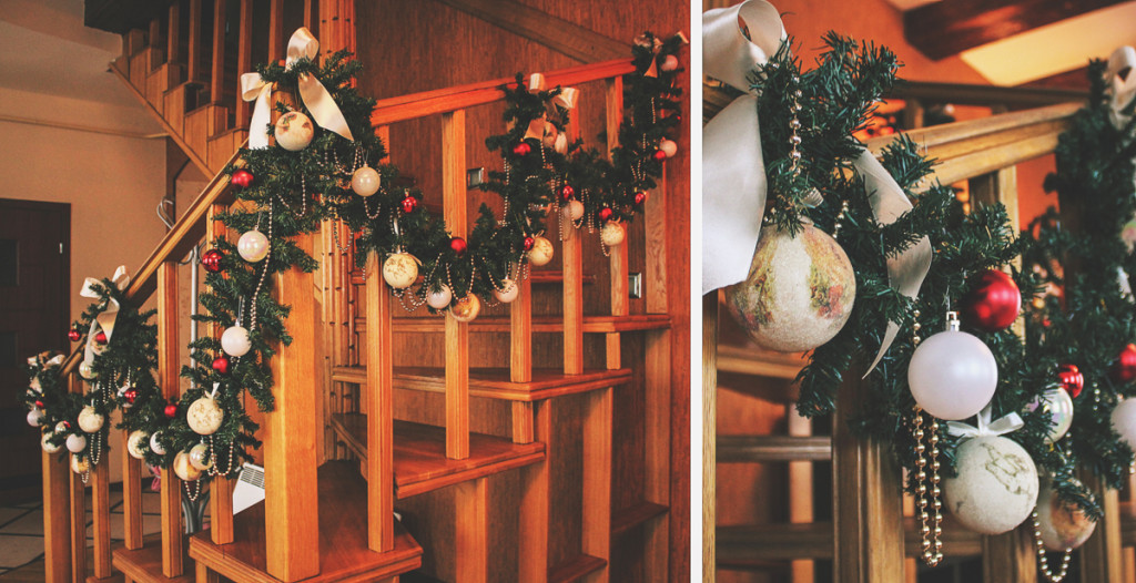 Christmas decorations of private interior