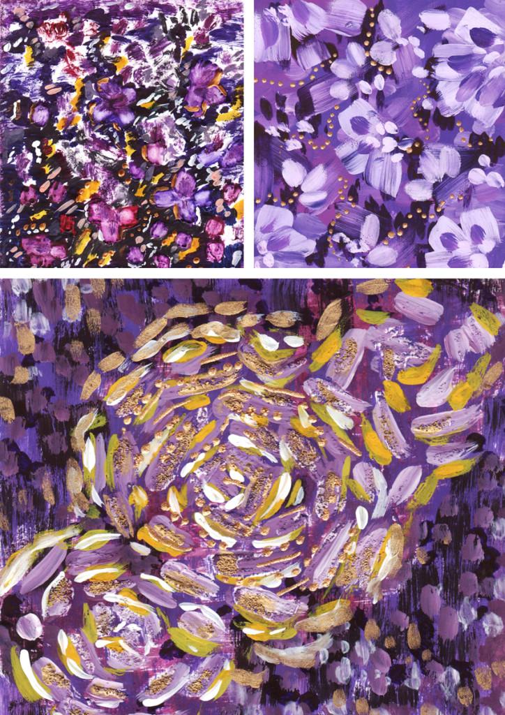 """""""Flowers"""". Gouache, acrylic"""