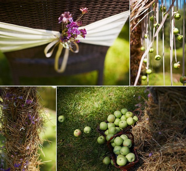 """Eco Apple Wedding"" ceremony details"