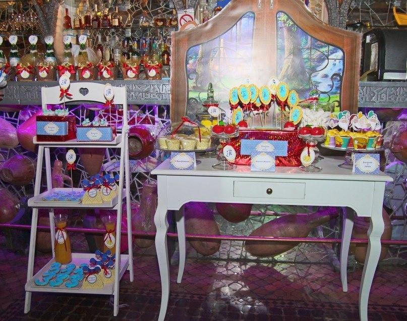 """Snowwhite"" party. Candy bar"