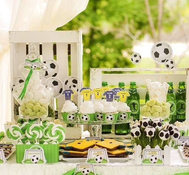 """""""Football"""" party. Candy bar"""