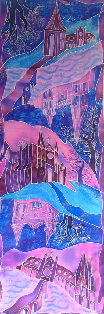 """""""Chartres Cathedral"""" shawl. Batik"""