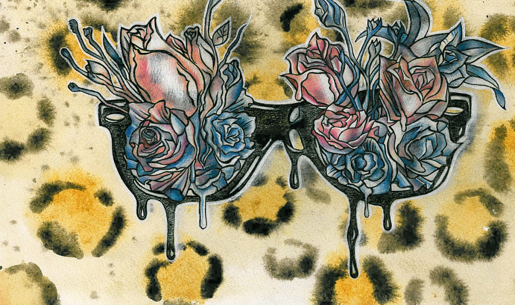 """Roses"". Watercolor and colored pencils sketch"