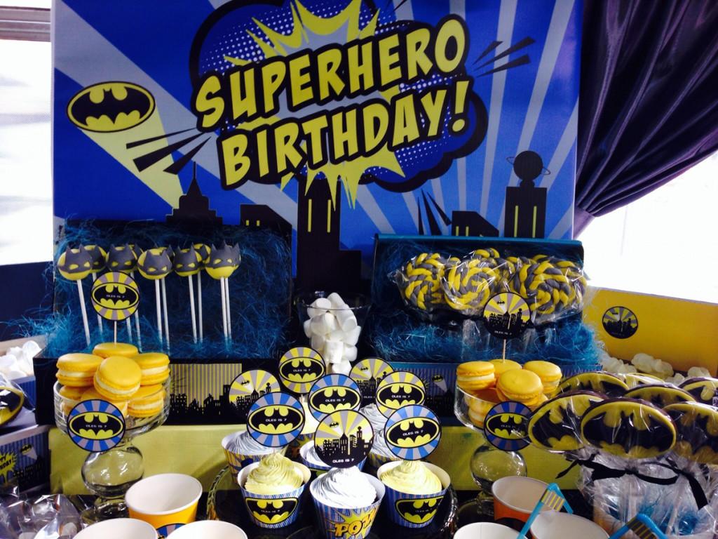"""""""Batman"""" birthday party. Candy bar"""