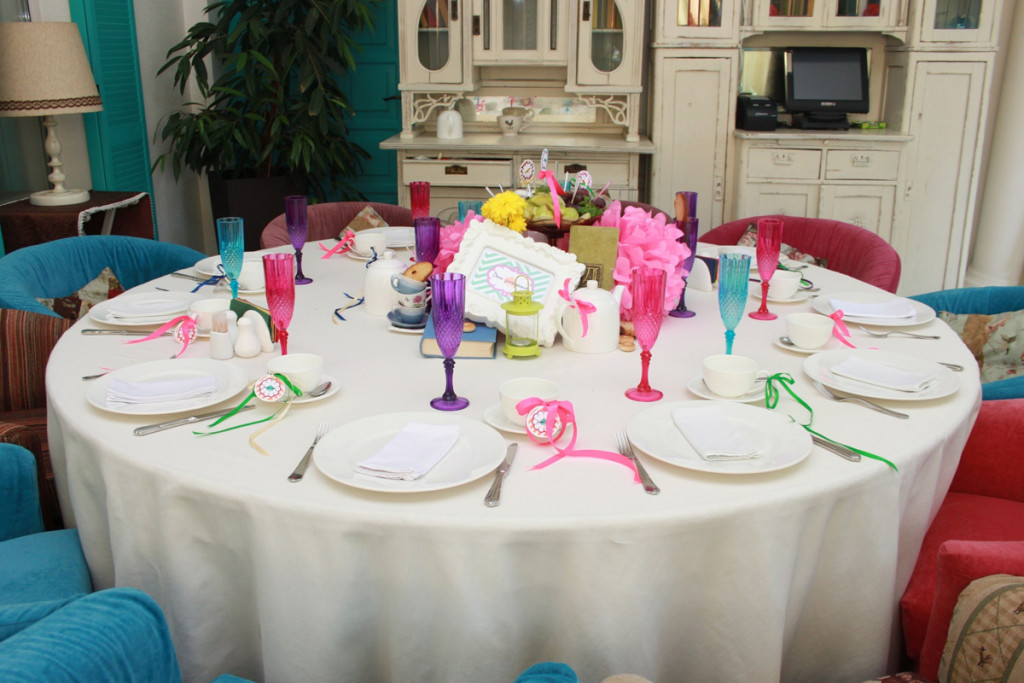 """""""Alice in Wonderland"""" party, table appointments"""