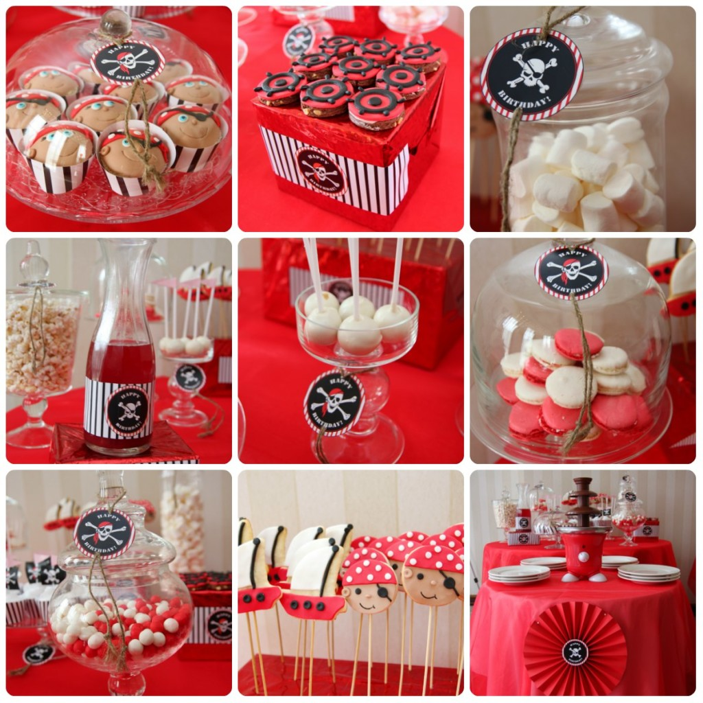 """""""Pirates"""" birthday party, candy bar details"""