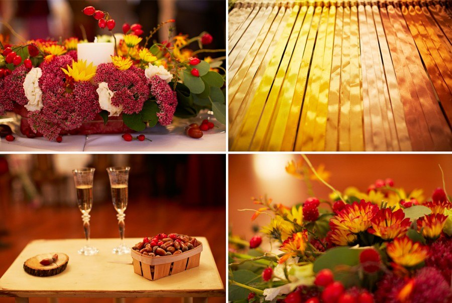 """Autumn Wedding"" decoration details"