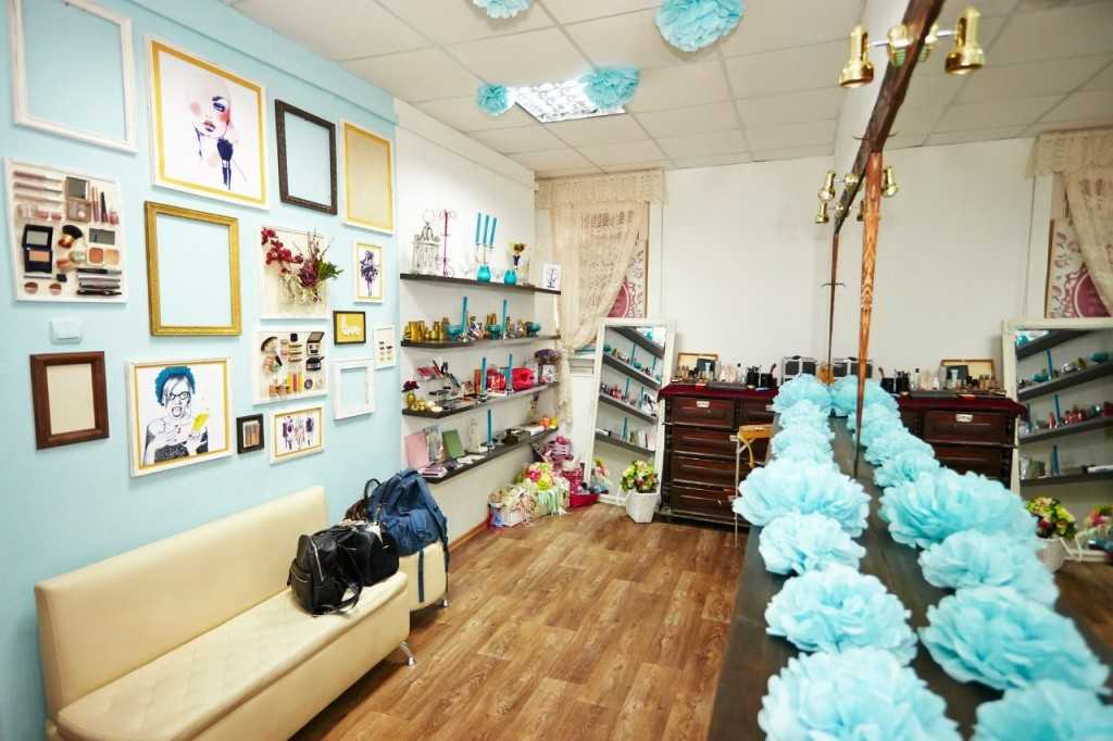 Beauty room interior design in creative space
