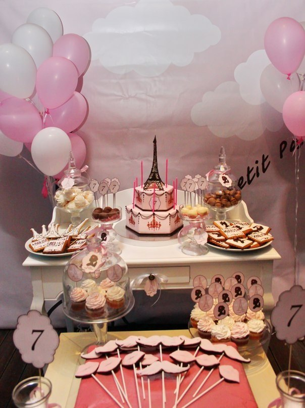 """""""Mon Petit Paris"""" party. Candy bar"""
