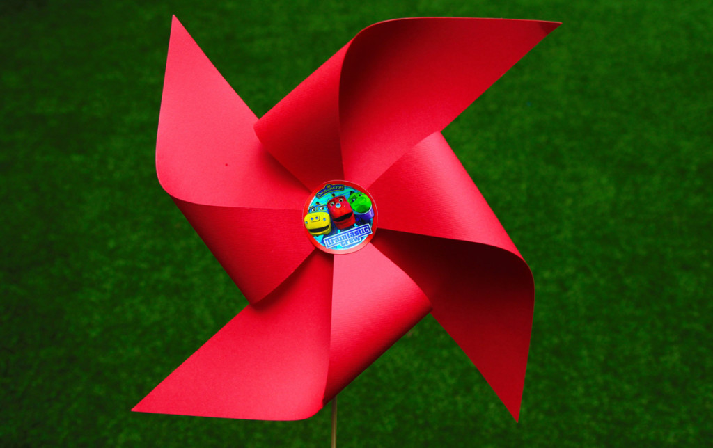 """Chuggington"" party, paper propeller"
