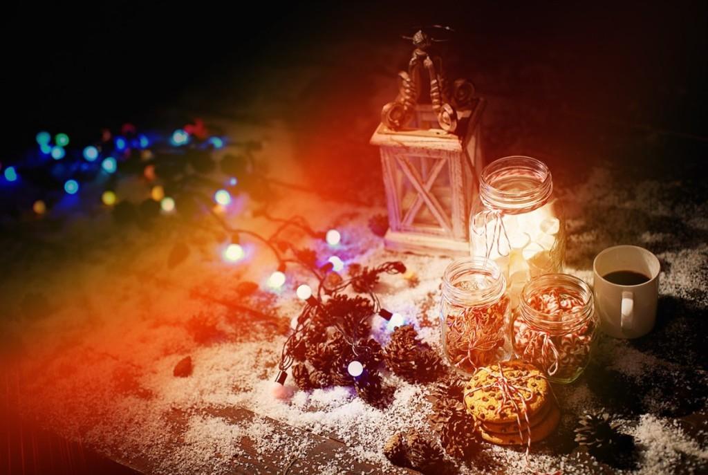 Christmas photozone decorations details