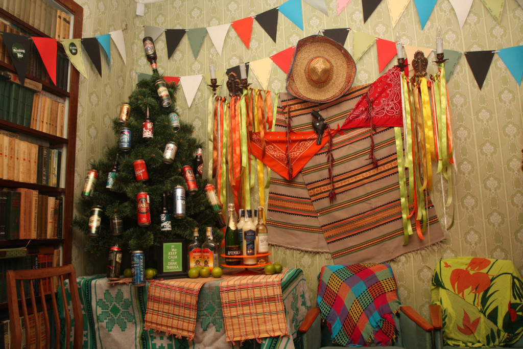 Mexican New Year decor